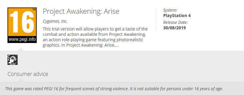 Project Awakening: Arise, CyGames