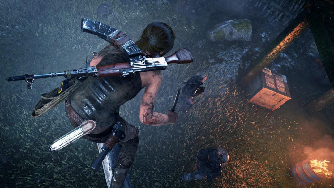 Rise of the Tomb Raider stealth kills are kind of stupid