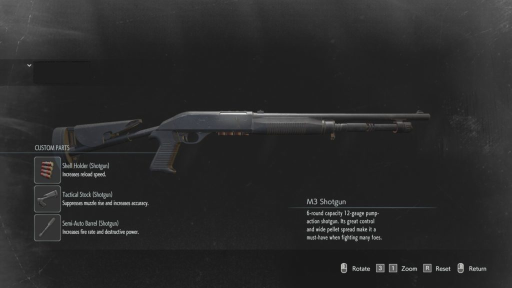 shotgun Resident Evil 3 weapon modification locations guide upgrades