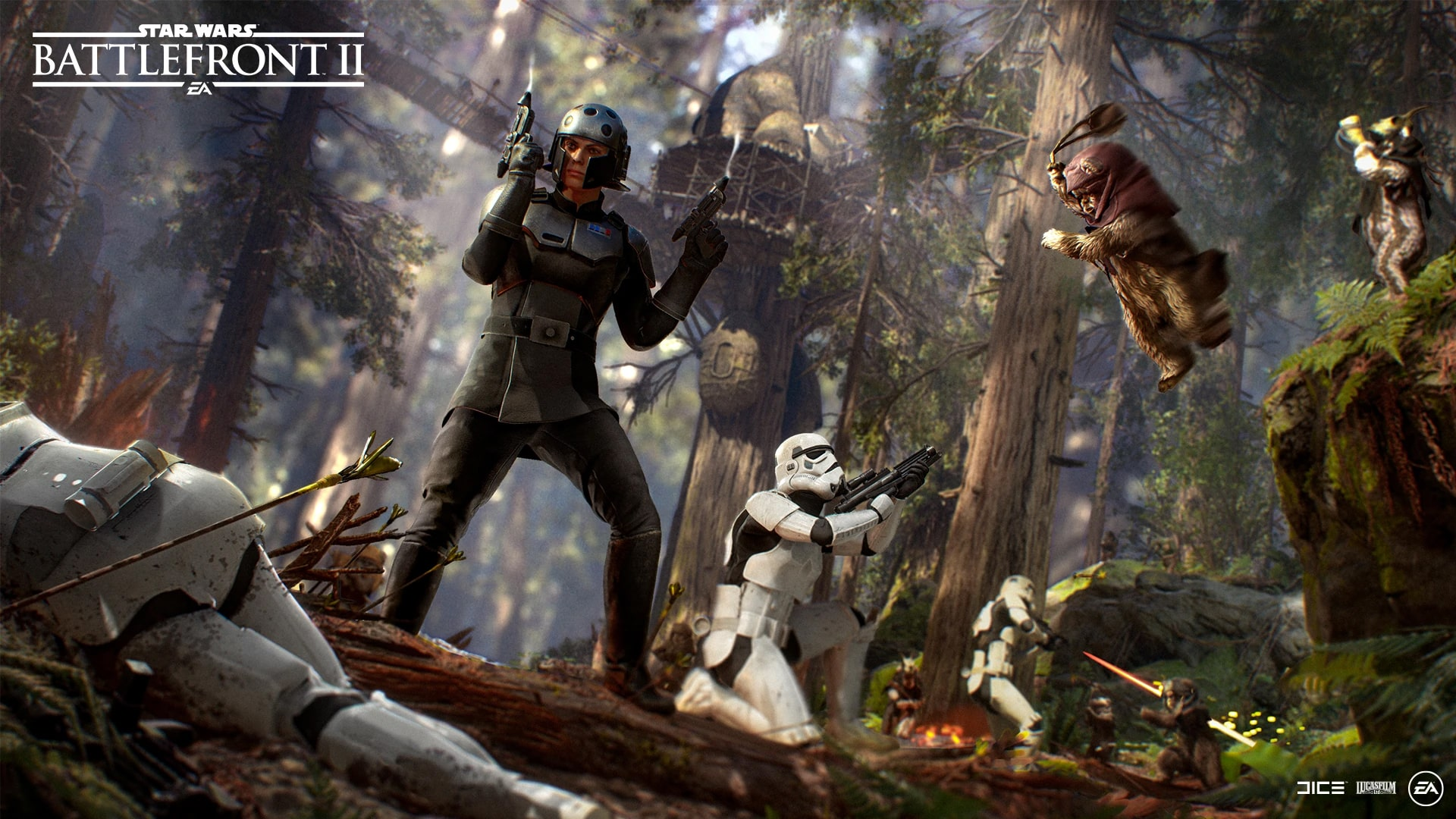 Star Wars Battlefront II The Age of Rebellion update Leia overpowered Ewok Hunter too