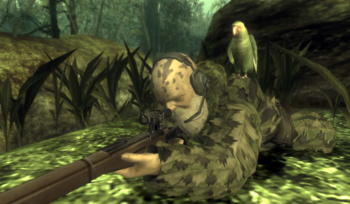Marty Sliva Snapshot: Metal Gear Solid 3: Snake Eater The End boss fight by Hideo Kojima is a boss battle gameplay masterpiece