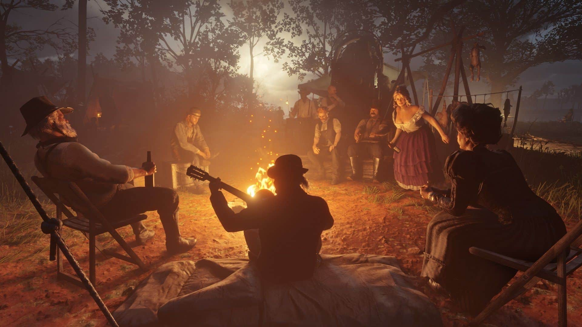 Red Dead Redemption 2 campfire parties are like live theater, ongoing with or without you, organic, innovative