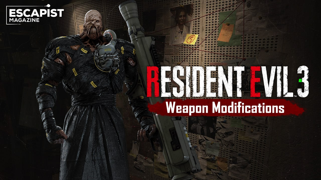 Resident Evil 3 guns weapon modification locations guide upgrades