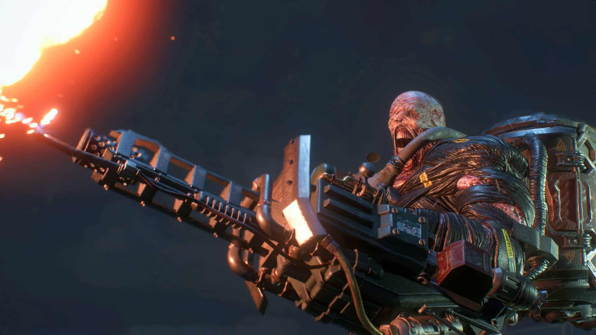 Resident Evil 3 remake Nemesis stuck in the past flamethrower