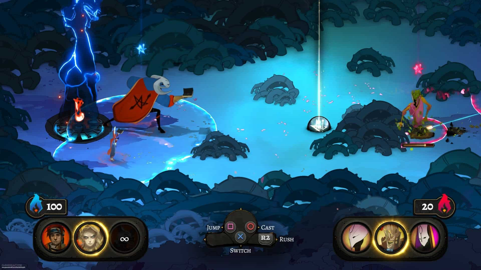 Pyre Supergiant Games offers exceptional and meaningful player choice in its game mechanics