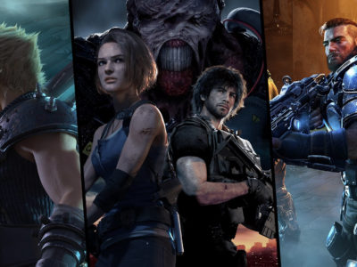 three single player games for April 2020: Resident Evil 3, Final Fantasy VII Remake, Gears Tactics
