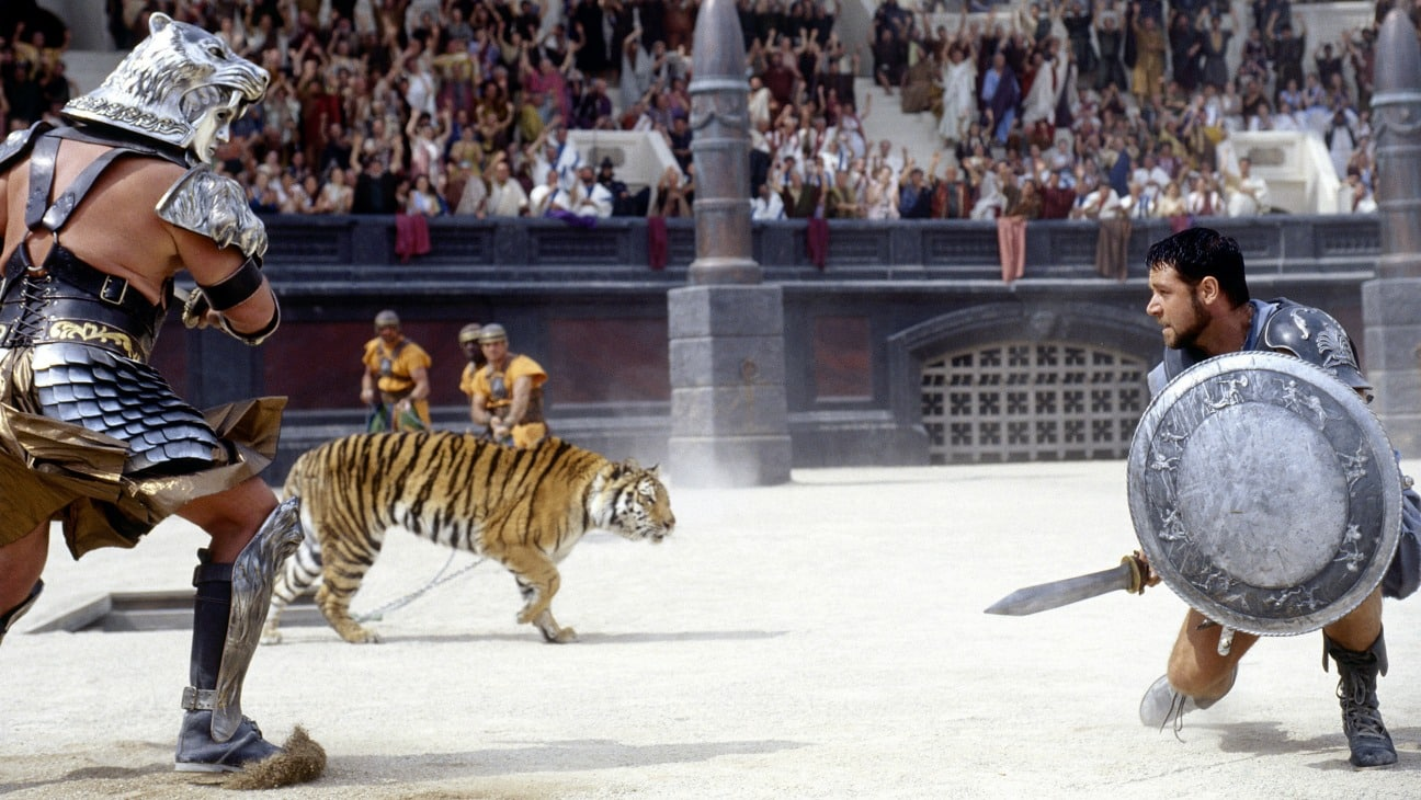 Gladiator Colosseum Hollywood spectacle Russell Crowe