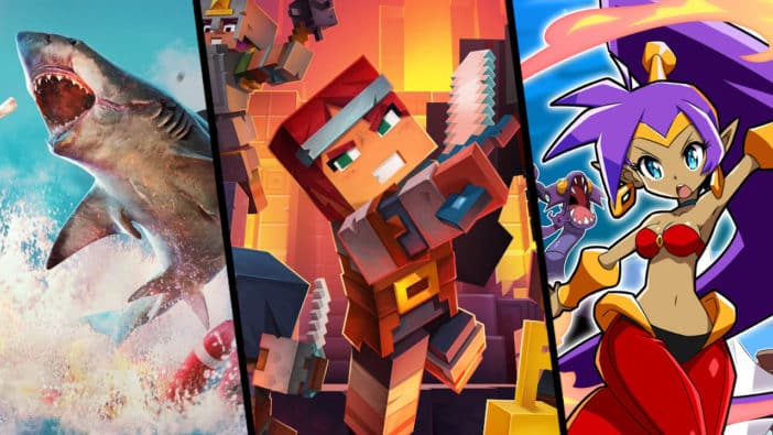 three single players games to watch out for in may 2020 Maneater Minecraft Dungeons Shantae and the Seven Sirens