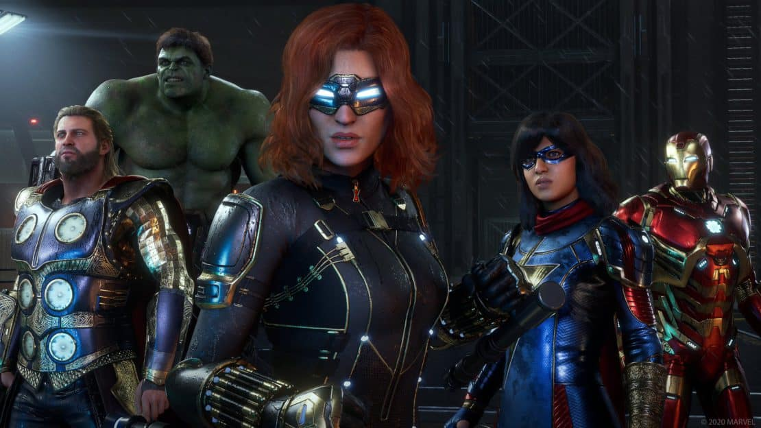 Square Enix Crystal Dynamics story gameplay heroic moves co-op mode Marvel's Avengers