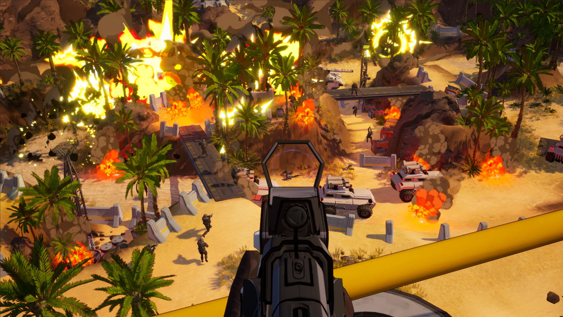 demo preview Earthbreakers Petroglyph Games FPS RTS base destruction
