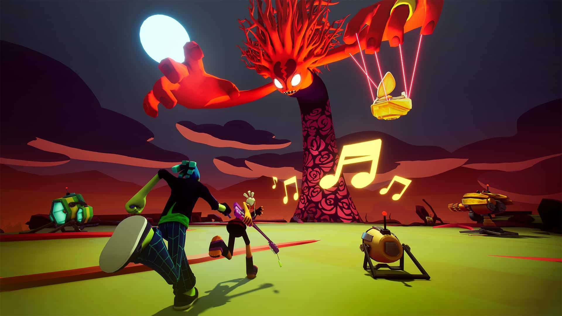 No Straight Roads preview Metronomik Sold Out Ltd. rhythm game with God of War elements, platforming, and total lack of rhythm focus