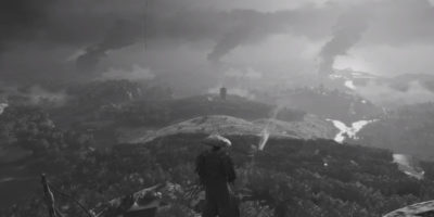 Ghost of Tsushima, black and white, Akira Kurosawa Mode, samurai, Sucker Punch Productions