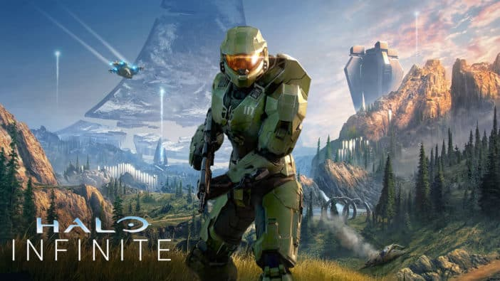 Halo Infinite reveal July Xbox 20/20 defines Halo brand survival and Xbox brand beyond Xbox Series X cover art Halo Infinite Box Art Pays Homage to Halo: Combat Evolved box art, new details like grappling hook