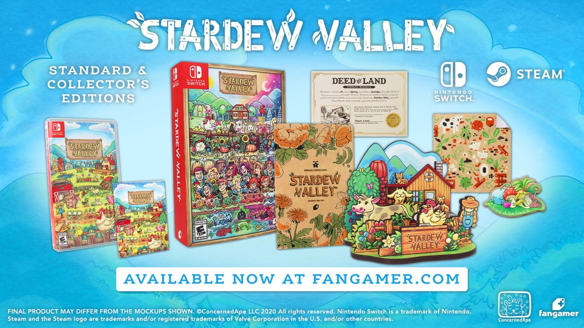 Stardew Valley, Collector's Edition, physical, Nintendo Switch, PC, ConcernedApe