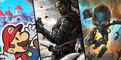 three single player games july 2020 Ghost of Tsushima, Paper Mario: The Origami King, Destroy All Humans!