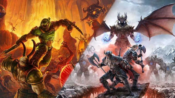 Doom Eternal The Elder Scrolls Online come to PlayStation 5 Xbox Series X free upgrade for current generation users Bethesda announcement
