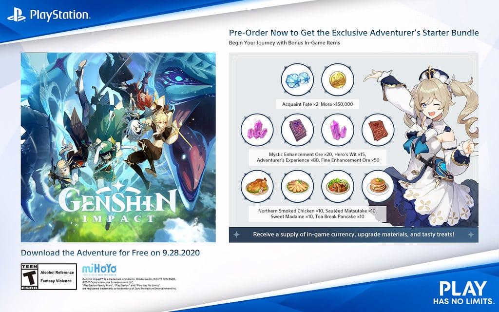 Genshin Impact, Studio miHoYo, PlayStation, release date, Breath of the Wild