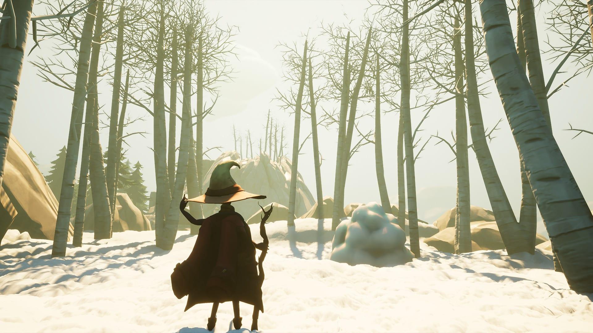 Kinoko ThunderLime serene peaceful exploration game of winter and spring free