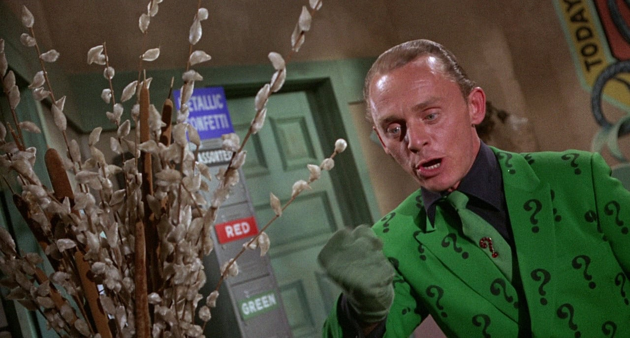 The Batman The Riddler Frank Gorshin DC Comics Silver Age villain antagonist, a cerebral challenge