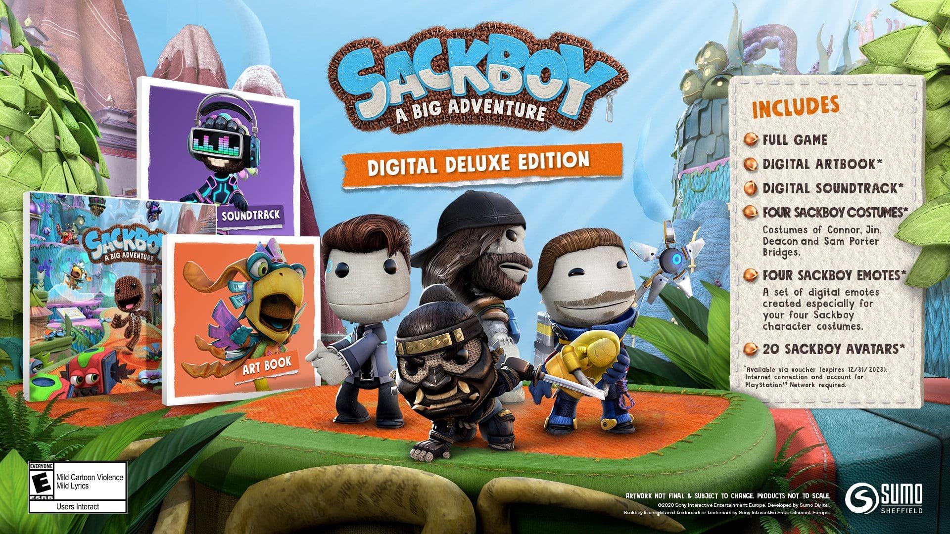 Sackboy: A Big Adventure, Sumo Digital, PlayStation 5, Sony, Deluxe