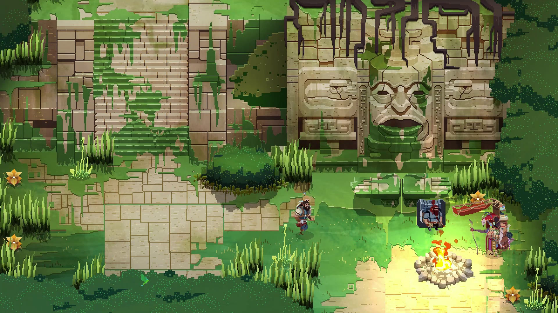 No Place for Bravery preview Glitch Factory top-down action RPG soulslike with beautiful pixel art and heartfelt narrative