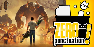 Serious Sam 4 review Zero Punctuation Yahtzee Croshaw Croteam Devolver Digital first-person shooter