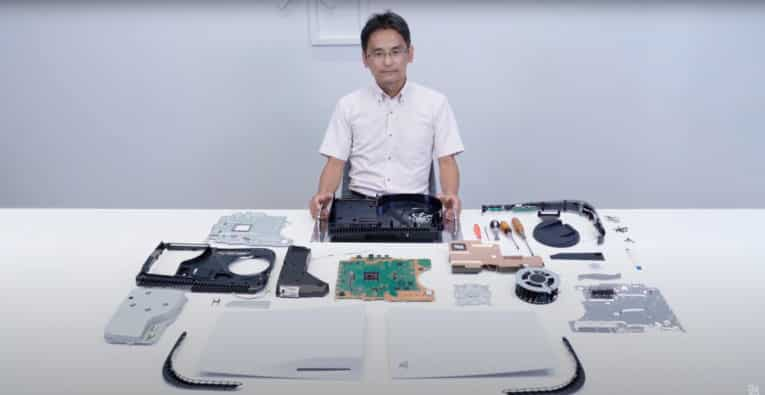 In a video, Sony VP of Mechanical Design Yasuhiro Ootori does a PlayStation 5 teardown, revealing a large heatsink and two dust catchers.