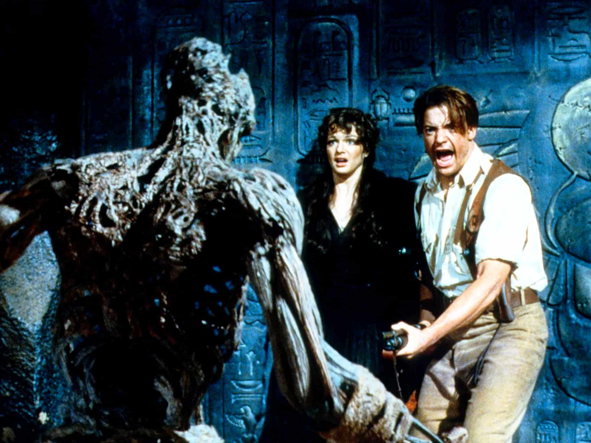 The Mummy 1999 pulp adventure movie Brendan Frasier Rachel Weisz