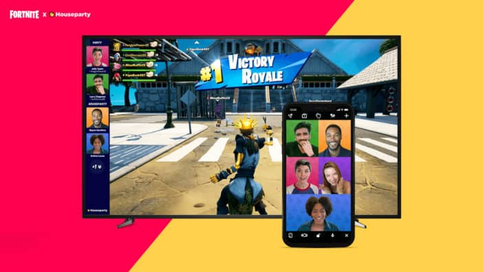 Fortnite, video chat, Houseparty, Epic Games, PlayStation 5, PS5, battle royale