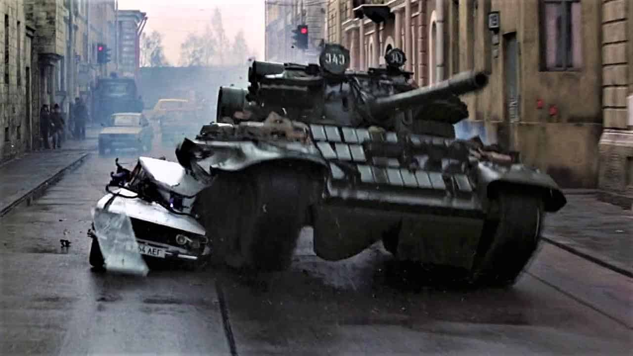 tank GoldenEye 007 James Bond the same in a changed world post-Cold War, still a sexist chauvinist Alec Trevelyan
