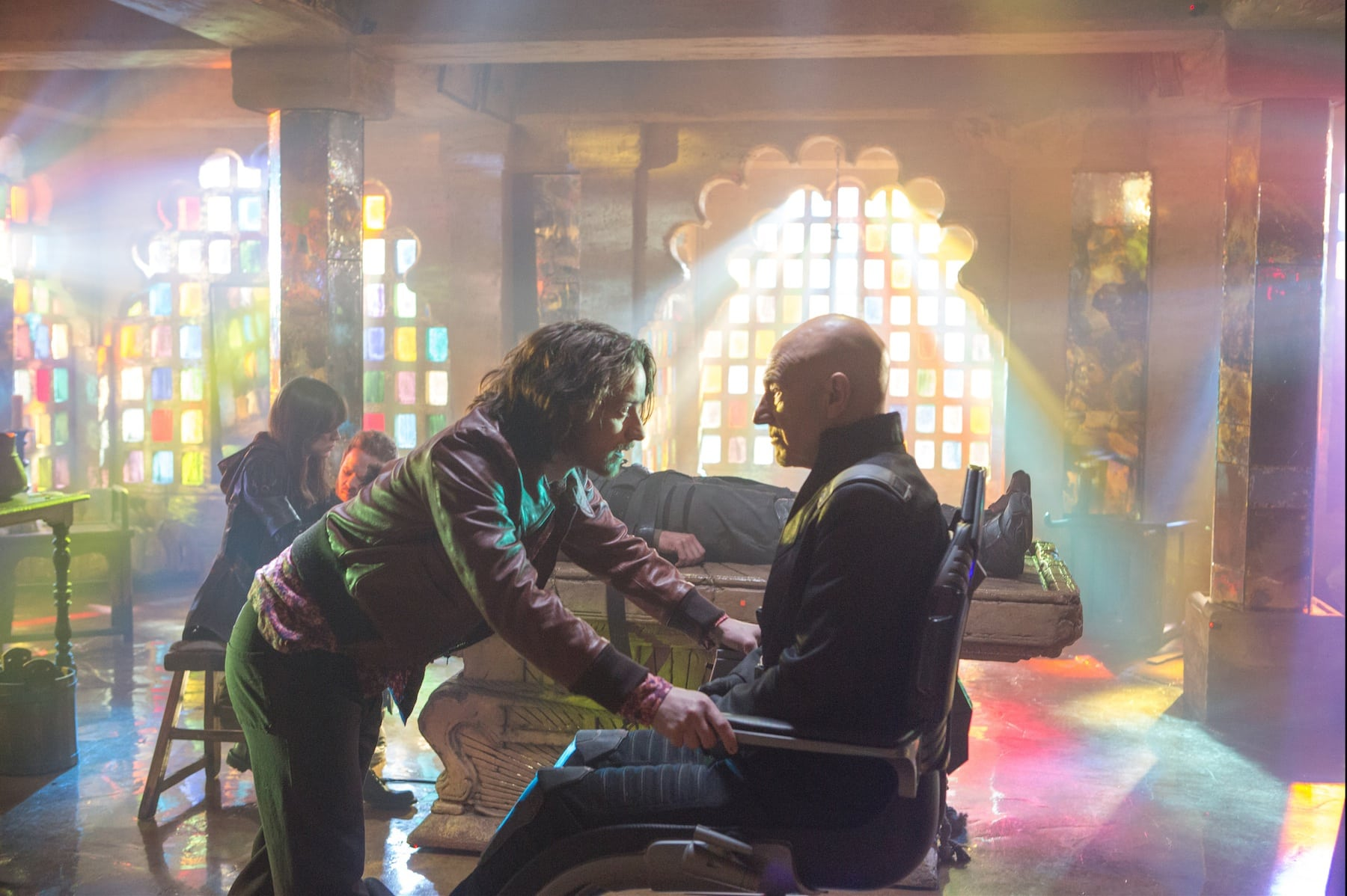 X-Men: First Class Professor Xavier James McAvoy human portrayal with nuance, depth. also here's Patrick Stewart