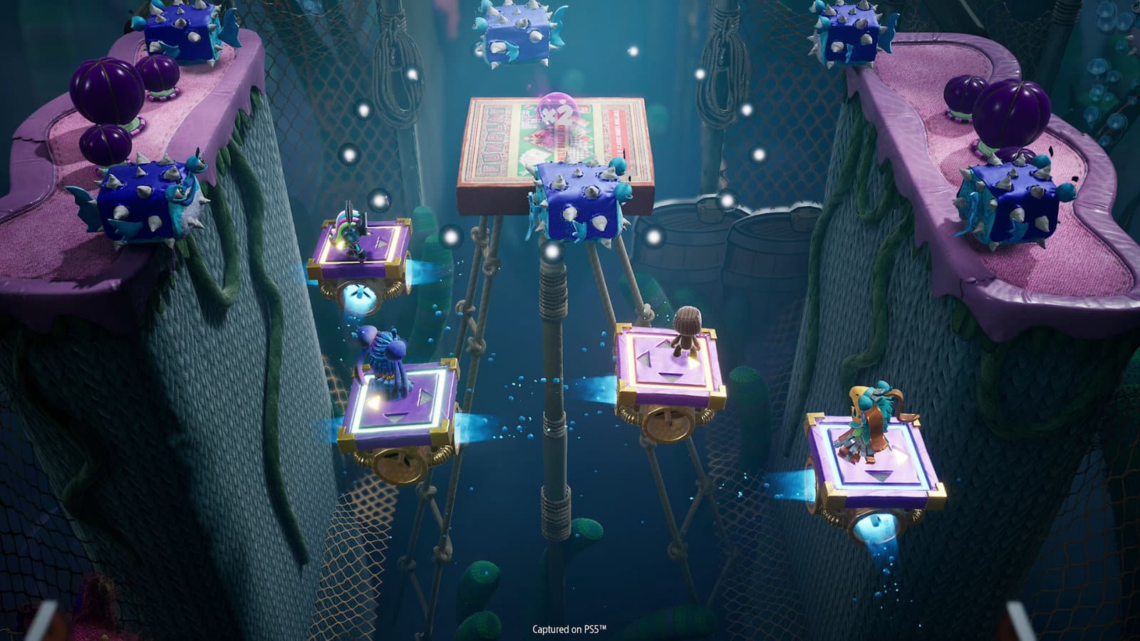 Sackboy: A Big Adventure review Sumo Digital Sony PlayStation 5 PlayStation 4 terrific co-op platformer