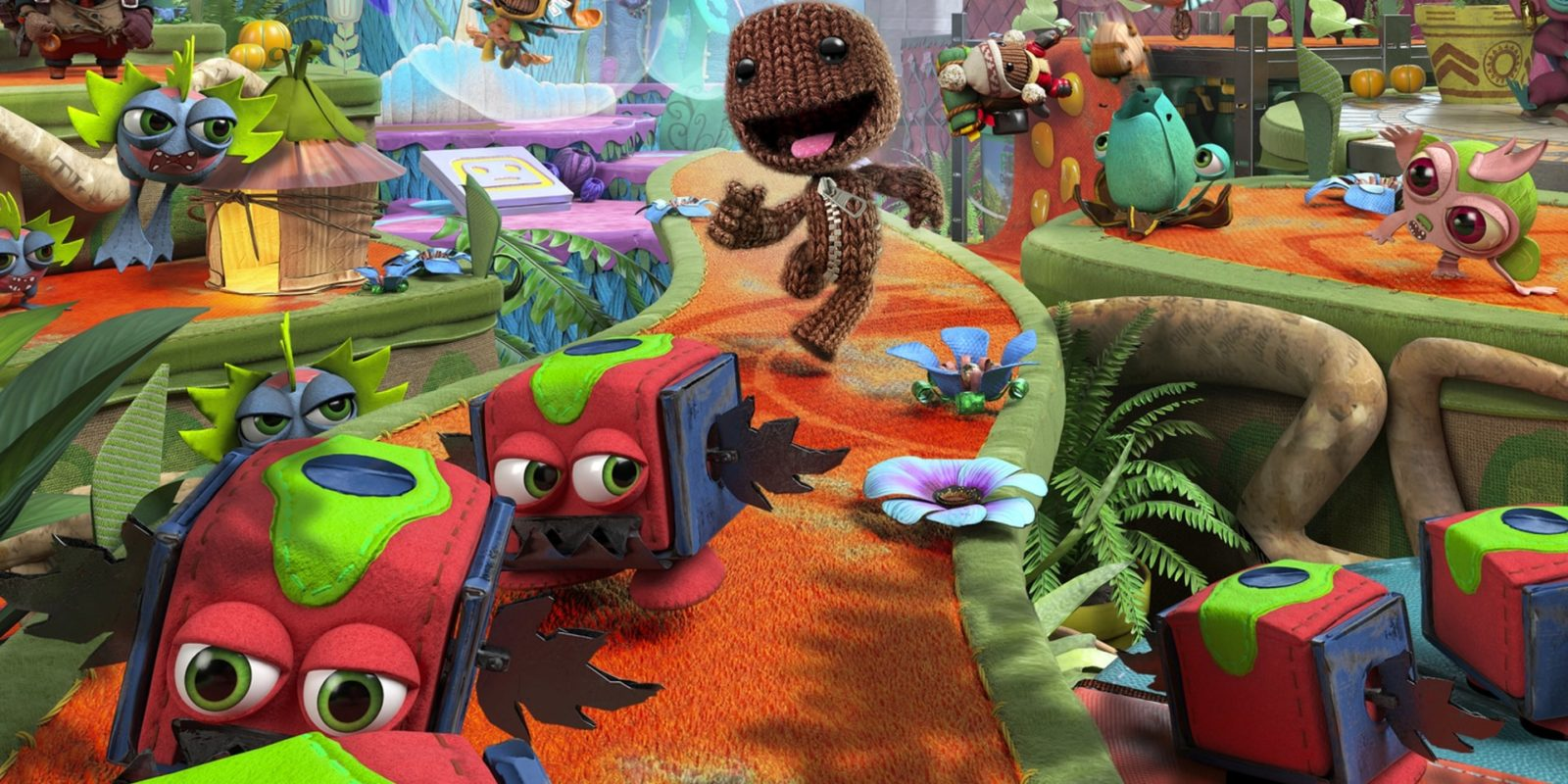 Sackboy: A Big Adventure review Sumo Digital Sony PlayStation 5 PlayStation 4 terrific co-op platformer