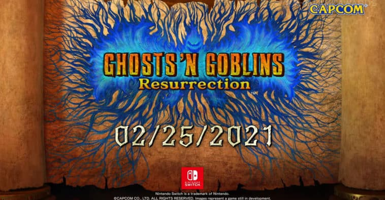 Ghost n Goblins Resurrection Nintendo Switch Capcom February release date Ghosts 'n Goblins Resurrection