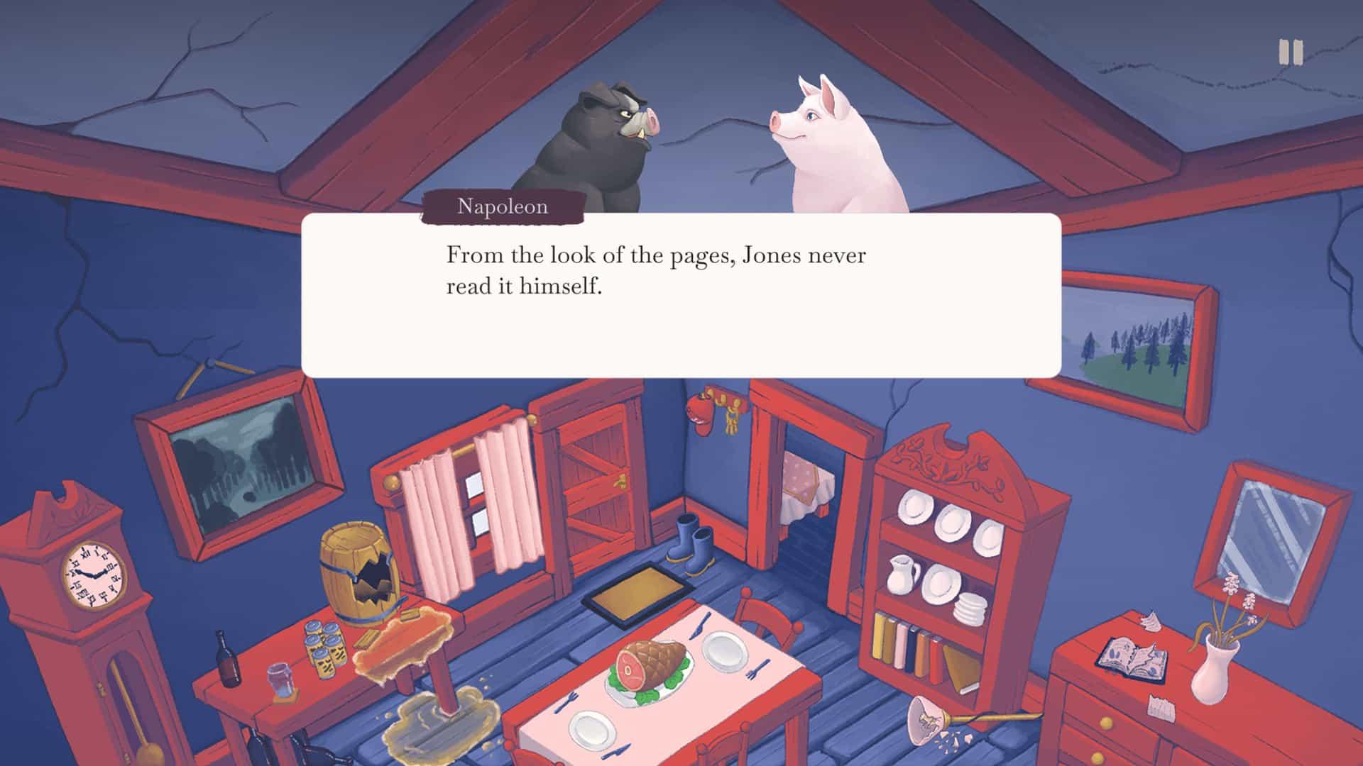 George Orwell Animal Farm adaptation video game politics Napoleon Imre Jele, Tamara Alliot, Emily Short Nerial Orwell's Animal Farm game