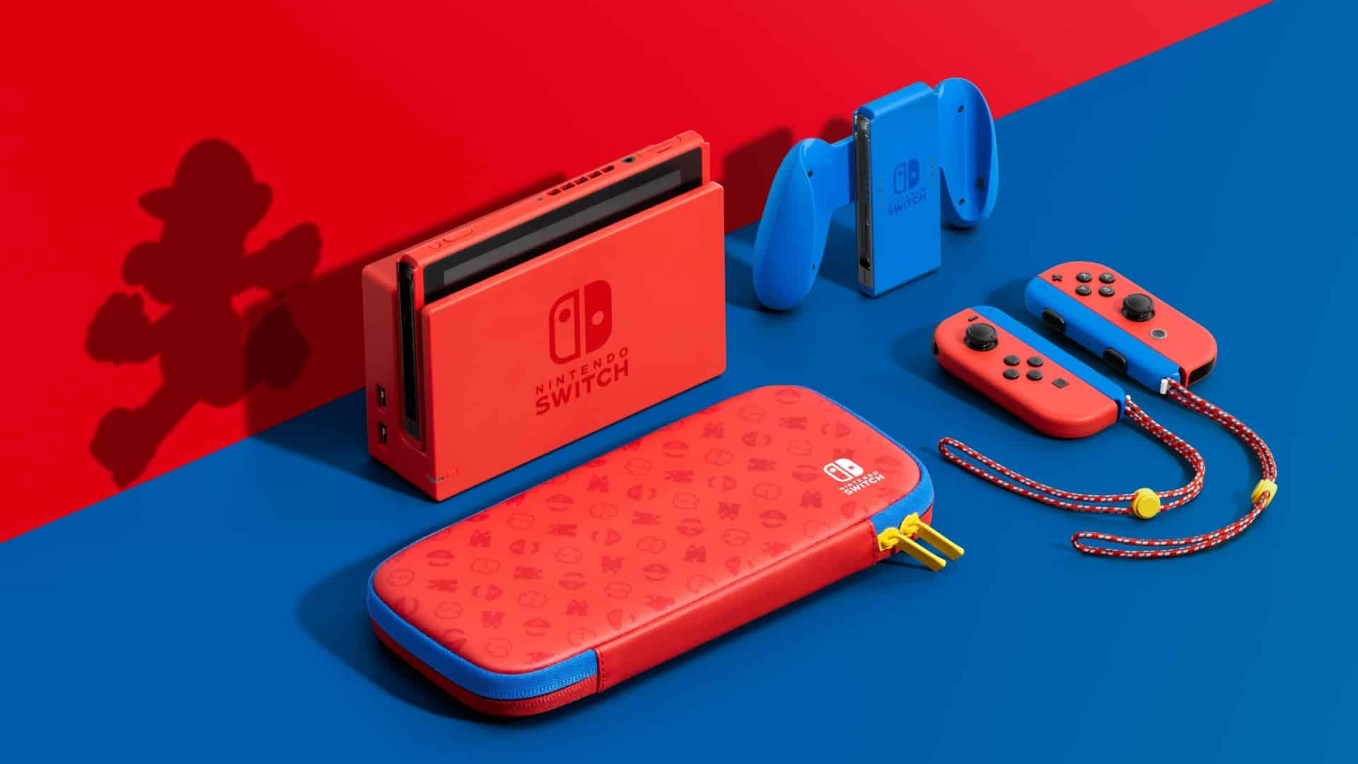 Mario Red & Blue Edition Nintendo Switch Pro 4K 720p 7 inch screen report release date timing is crucial