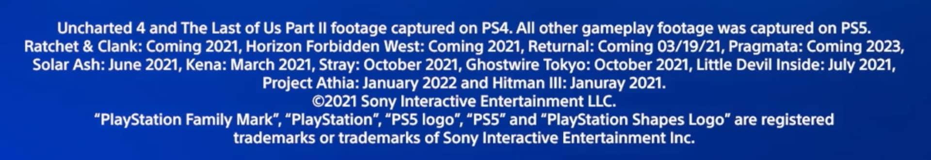 PlayStation 5 CES 2021 release dates Project Athia Stray Ghostwire Tokyo Hitman III Pragmata