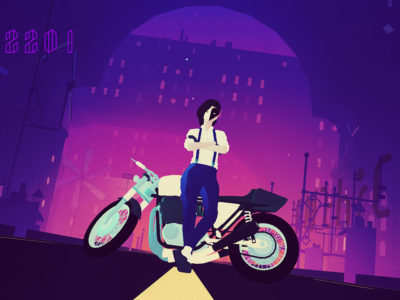 Sayonara Wild Hearts Apple Arcade is actually kind of great mobile gaming service
