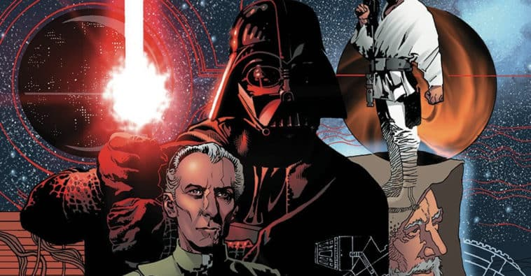 Star Wars Infinities A New Hope Dark Horse Comics what if story: the Death Star didn't blow up, Leia joins the Dark Side with Darth Vader, Yoda kills Coruscant
