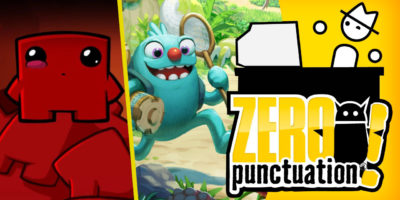 Bugsnax Super Meat Boy Forever Zero Punctuation review Yahtzee Croshaw Team Meat Young Horses