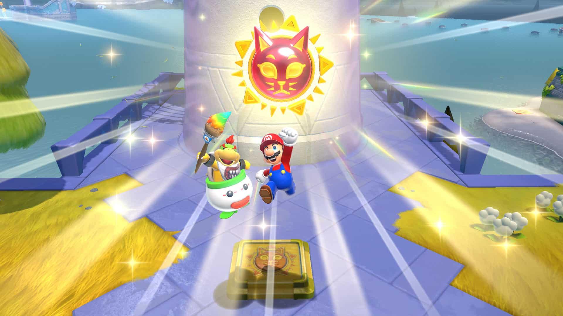 Cat Shine Nintendo fixes Super Mario Odyssey mistake failing with Super Mario 3D World + Bowser's Fury