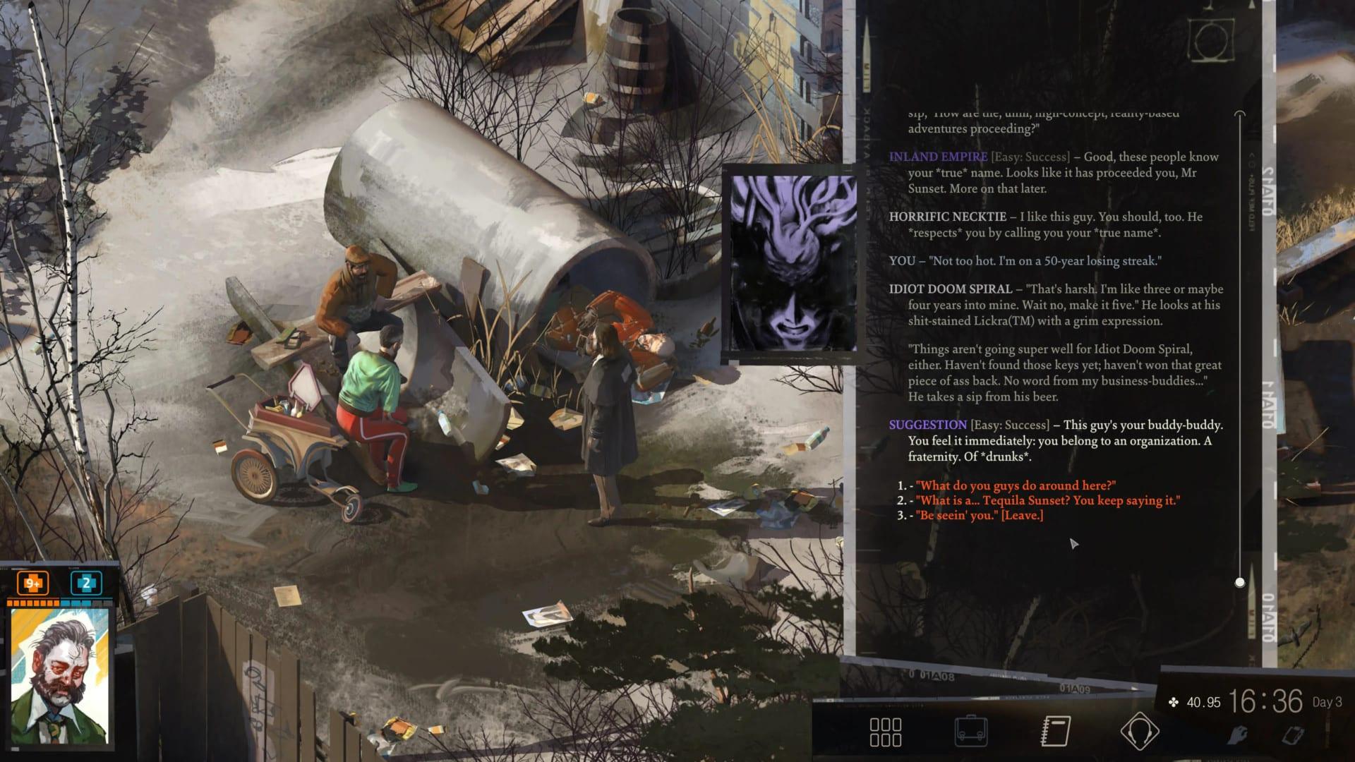 Disco Elysium: Final Cut ZA/UM full voiceover voice acting option video game text unvoiced