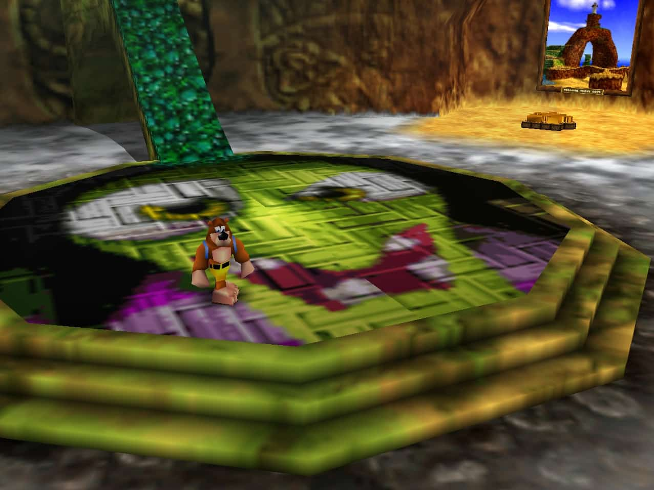 Banjo-Kazooie Rare perfect hub world Gruntilda's Lair