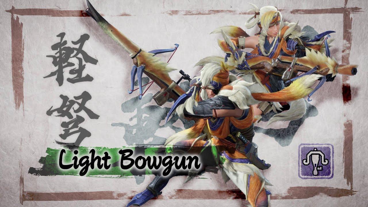 best monster hunter rise weapons for beginners Capcom Nintendo Switch Light Bowgun