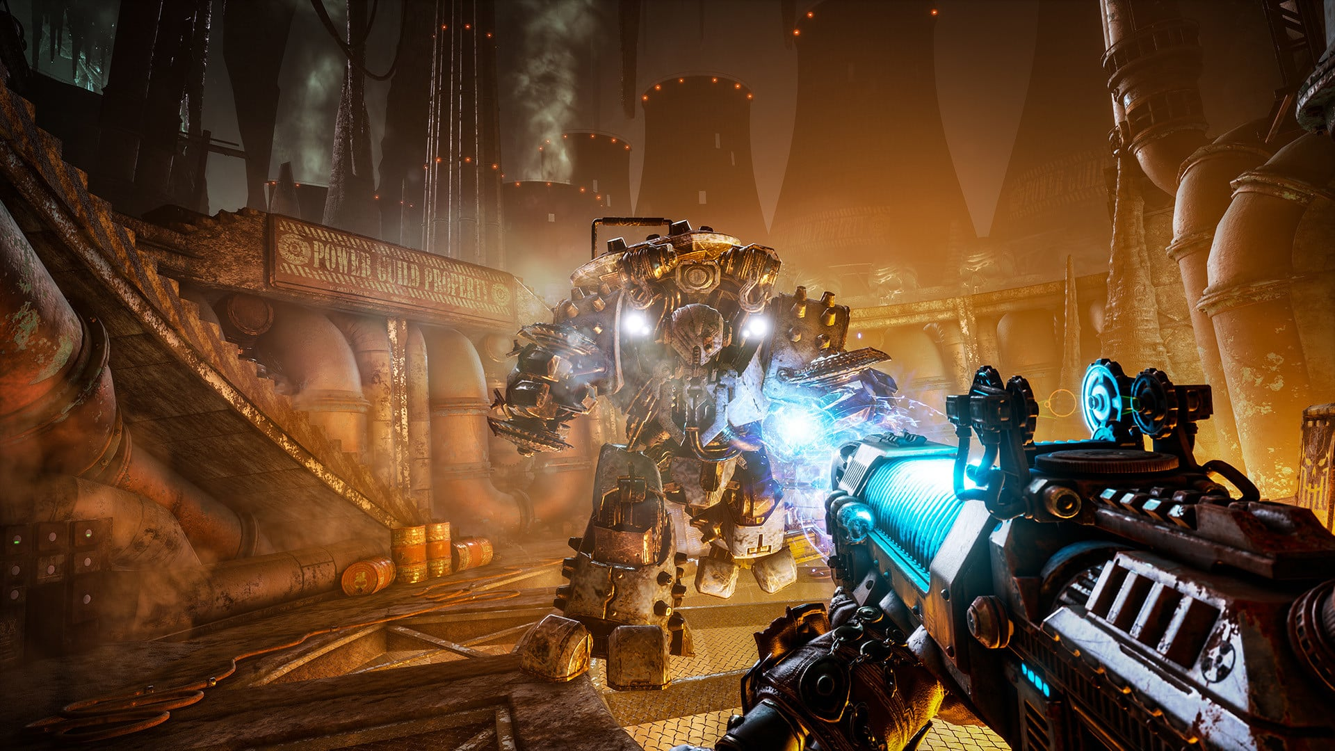 Focus Home Interactive Necromunda: Hired Gun interview Streum On Studio Victor Mercier game producer Warhammer 40,000 40K brutal frenetic first-person shooter fast FPS with cyber mastiff
