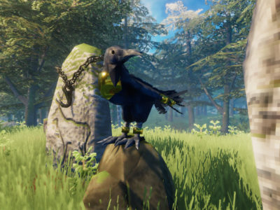Valheim unskippable content tutorials bird Hugin annoying, would rather explore and learn oneself