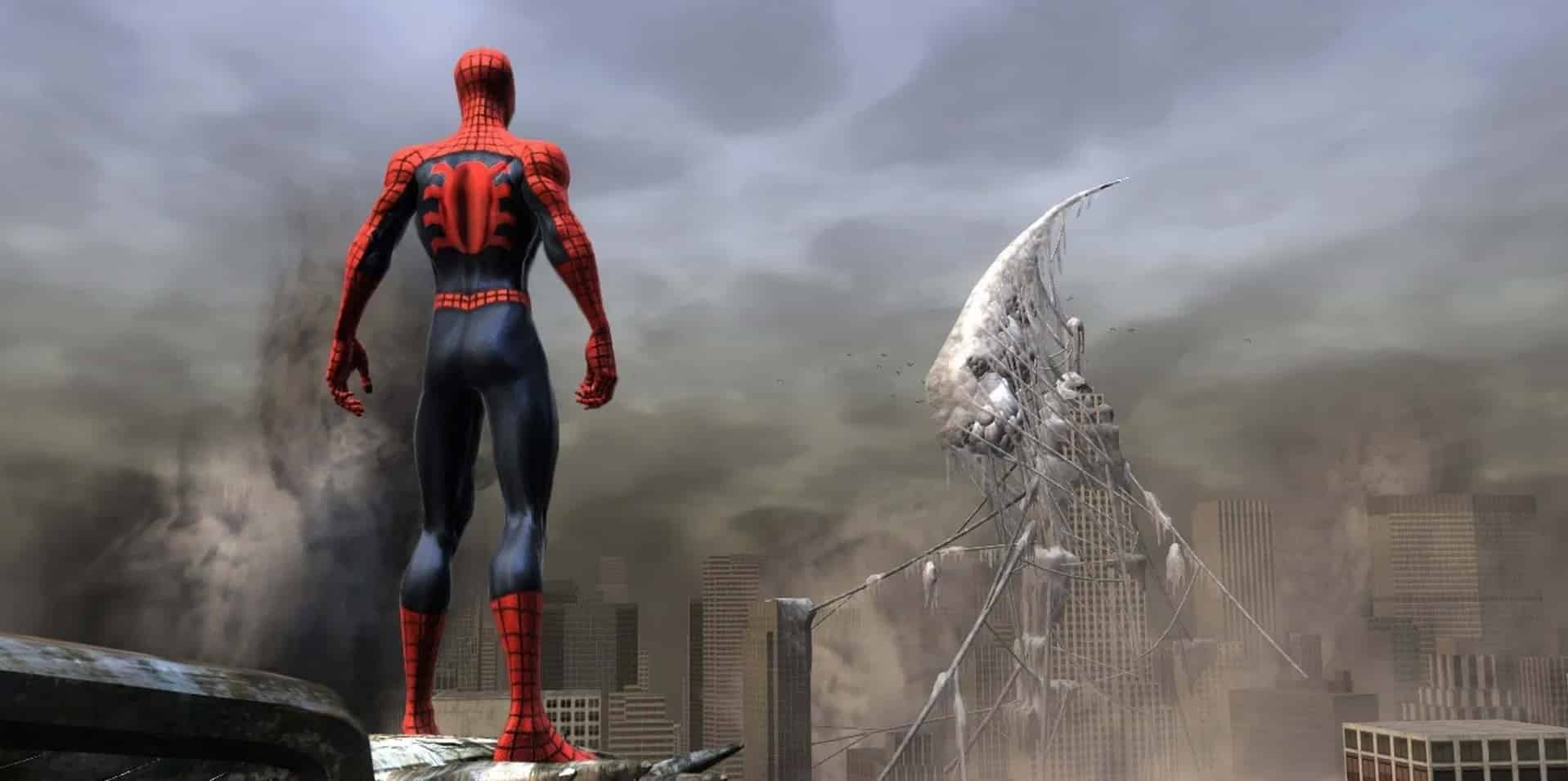 Spider-Man: Web of Shadows Treyarch open-world sandbox gameplay with moral consequences, Wolverine, Moon Knight, and Black Cat