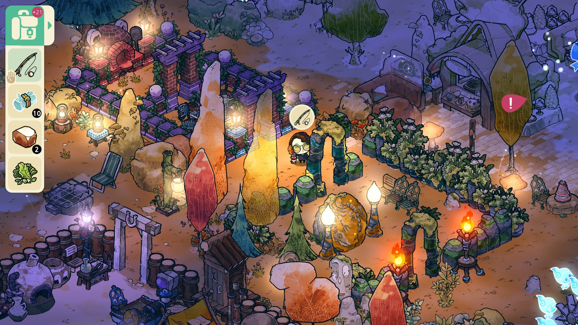 Cozy Grove Spry Fox beautiful serene life sim to play in daily doses, unlike Stardew Valley