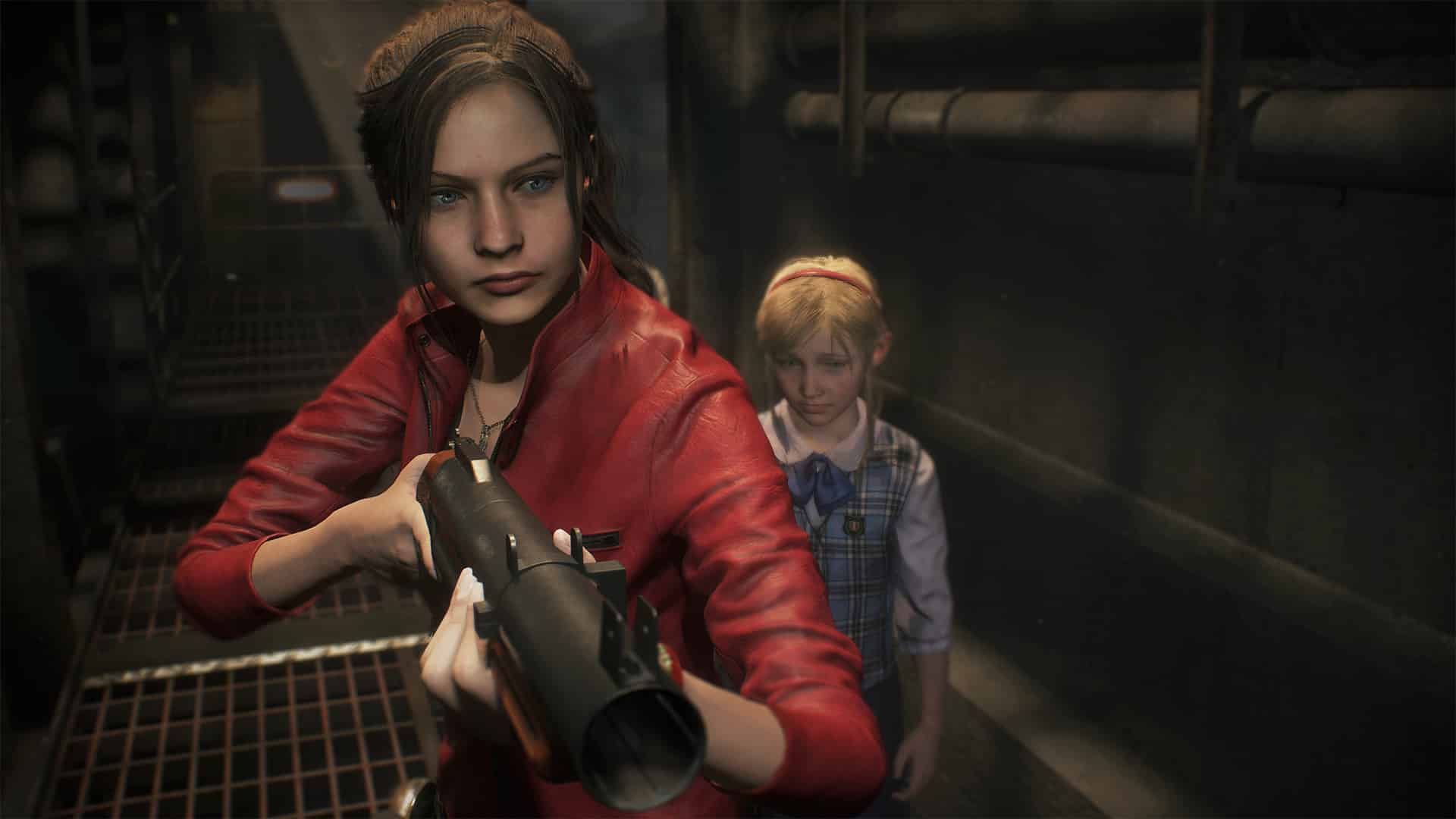 Claire Redfield Sherry Birkin Capcom Resident Evil 2 remake cheat the undead zombies until Mr. X shows up