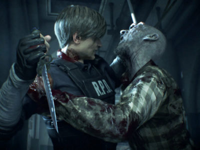 Leon Kennedy Capcom Resident Evil 2 remake cheat the undead zombies until Mr. X shows up